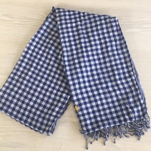 Ralph Lauren gingham reversible scarf